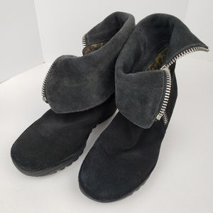 Fly London Cuffed Suede Platform Boots